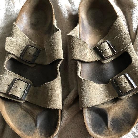 4f75b6fcdc28 Birkenstock Other - Men s Birkenstock Taupe Suede Arizona Sandals